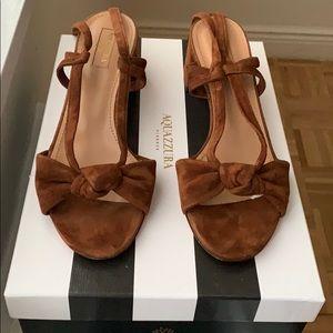 Aquazzura suede tie sandals